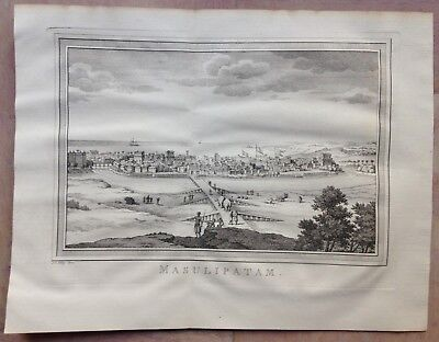 India Machilipatnam 1749 Bellin / Van Schley Nice Antique Engraved View
