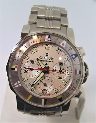 Mens S/Steel CORUM ADMIRAL'S CUP Automatic Chronograph Watch 982.630.20* EXLNT
