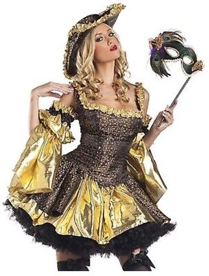 Be Wicked Black Antoinette Women's Costume - Size M/L - 4 piece