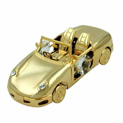 1 Lot of sports car with crystal elements gold plated