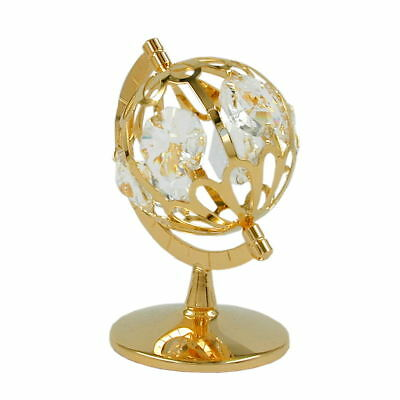 1 Lot of globe with crystal elements gold plated