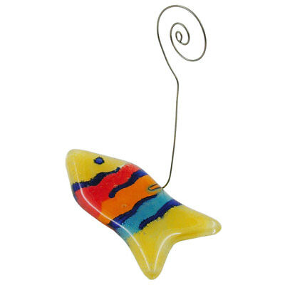 1 Lot of memo holder fish multi-coloured