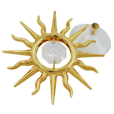 1 Lot of suncatcher sun with crystal elements gold plated