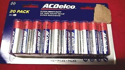 20 Pack of ACDelco Maximum Power Super HEAVY DUTY AA Batteries OCT2019Expiration