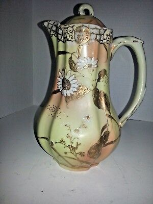Unique Antique Pitcher –Japanese Design Gold Porcelain - Yellow Gold
