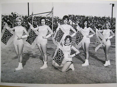 1962 Greenville, NC ECU Pirates cheerleaders football goalpost crowd Pitt Co. NC