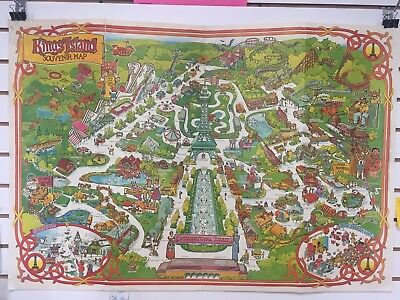 Kings Island 1982 Poster Map