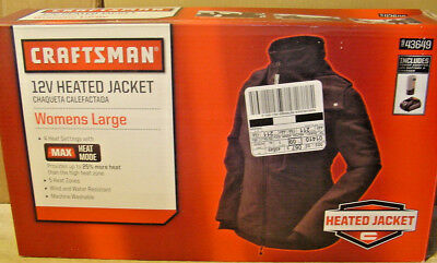 Craftsman WOMEN'S Heated Jacket LARGE. BATTERY & CHARGER INCLUDED NEW