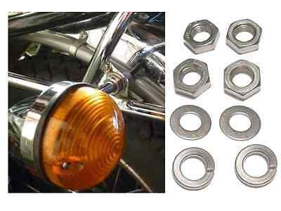 Triumph T100 T120 T140 T150 T160 Stainless Nuts & Washers to fit Indicators