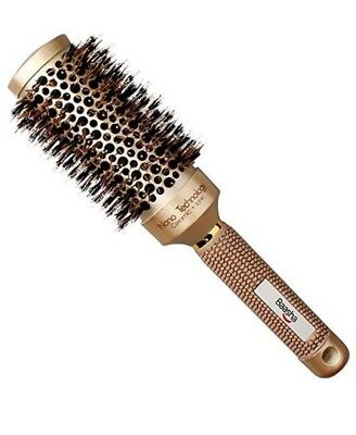 Round Blow Dry Hair Brush With Ionic Ceramic Barrel For Drying & Styling