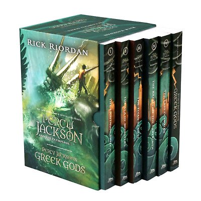 BRAND NEW! Percy Jackson and the Olympians 5 Book Paperback Boxed Set w/poster