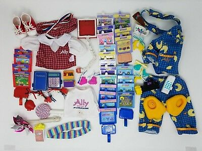 Amazing Ally Lot 24 Cards and outfits accessories school skating slumber tea