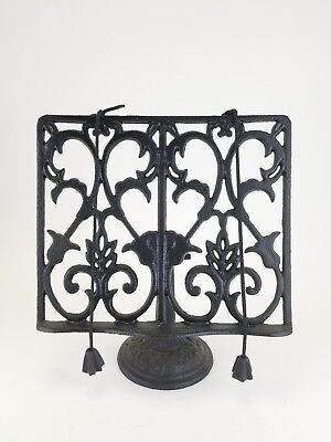 Cast Iron Music Cookbook Bible Shtenders Book Stand Holder with Page Weights