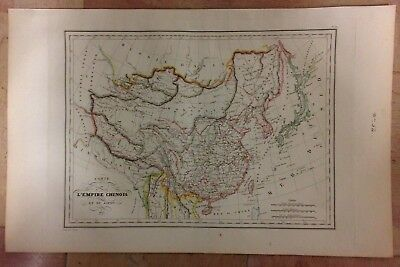 CHINA KOREA JAPAN by HUOT DATED 1835 XIXe CENTURY ANTIQUE ENGRAVED MAP