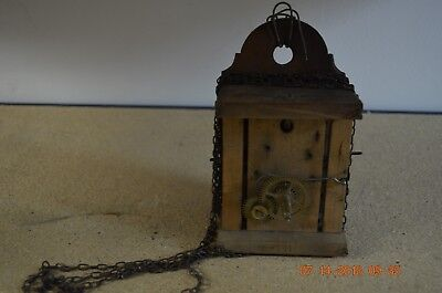 ANTIQUE CUCKOO WOODEN PLATES CLOCK MOVEMENT for project