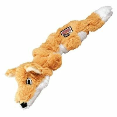 KONG Scrunch Knots FOX Stretchy Dog Puppy Squeaky Toy Strength Knotted Rope