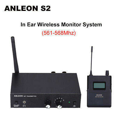 ANLEON S2 Stereo Personal In-ear Monitor System Stage UHF Clear Sound 561-568Mhz