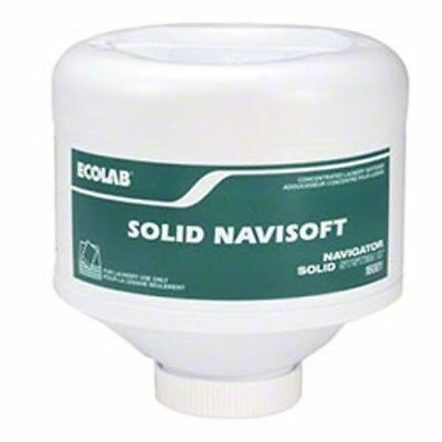Case of 2 Ecolab 16001 Solid Navisoft Fabric Softener - 6 lbs Each