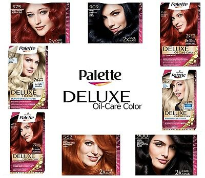 Palette Deluxe Color Permanent Hair Colour Dye Different shades FAST DELIVERY