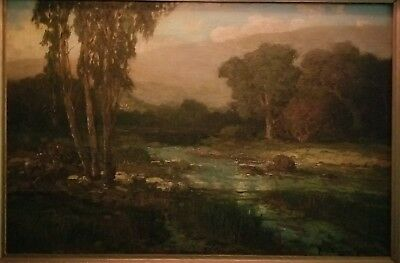 Antique  Oil on Canvas by Well Listed Artist Ralph Davison Miller NICE!