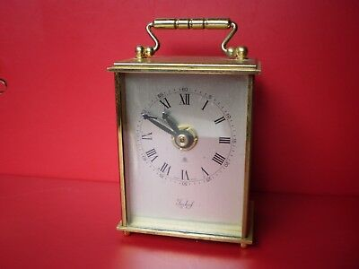 Vintage Retro 1980s Swiss Made 'Imhof' Carriage Clock Junghans Movement Germany