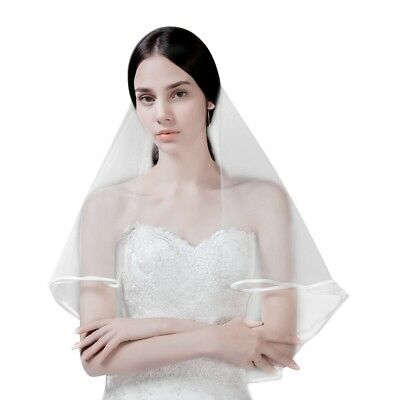 Wedding Veil Beautiful Lace Foldable Easy Storage Elbow Length Bridal Veil 1Pc