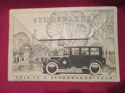 STUDEBAKER  1924  fold out advertisment