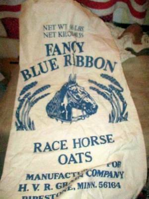 Vry Nice Blue Ribbon Race Horse Oats Grain Feed Sack Unopened Graphic