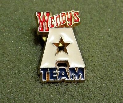 Wendy's A Team Employee Staff Lapel Pin Old Fashioned Hamburgers Fast Food Chain