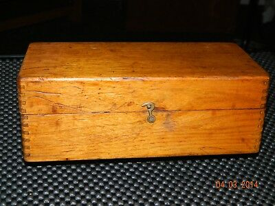 Old Vintage Wooden Candle Storage Box