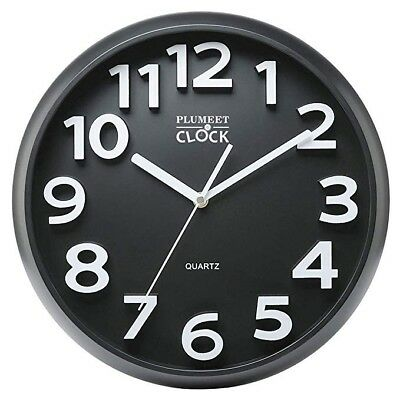 "Large Number Wall Clock, 13"" Silent Non-ticking Quartz Decorative Wall"
