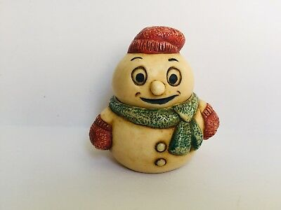 Harmony Kingdom Ball Figurine Pot Bellys SNOW CHEERER Snowman