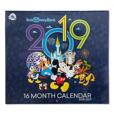 Walt Disney World 2018 2019 16 Month Wall Calendar New Sealed