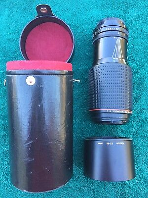 Canon FD 80-200mm f4 L ZOOM Lens W/Lens Hood And Case EXC+ (LAST ONE!!)