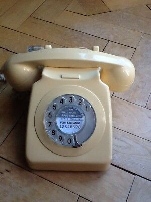 Vintage 70s Cream GPO Converted Telephone working .. great Christmas present !!