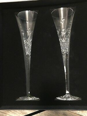 WATERFORD CRYSTAL Happy Celebration, pair toasting flutes  0 24258 385795