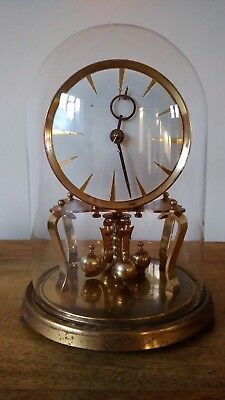 Vintage Anniversary Clock with Glass Dome