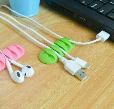 Cable Clip Cord Organizer Desktop Wall Tidy Adhesive USB Charger Holder Fixer