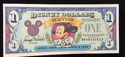 DISNEY DOLLAR NEW VINTAGE 65th ANNIVERSARY SPECIAL EDITION!