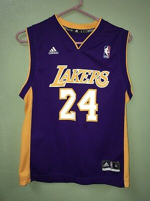 92c4f11d97fd Adidas LA Lakers Kobe Bryant 24 Jersey Nba Authentics Size Youth M
