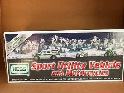 Hess Sports Utility Vehicle and Motorcycles 2004 NEW IN BOX