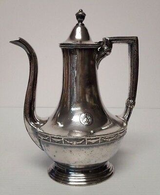Reed & Barton HOTELS STATLER Silver Soldered Large 32 oz Coffee Pot Pitcher RARE
