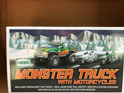 Hess Monster Truck with Motorcycles 2007 NIB
