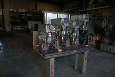 Clausing 4-spindle variable speed drill press