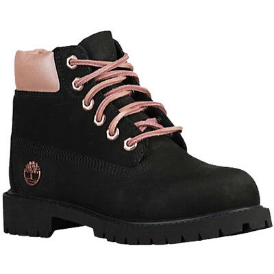 387c359a67 TIMBERLAND GIRLS 6-INCH Premium Boots in Black, Pink Size 7 Toddlers ...