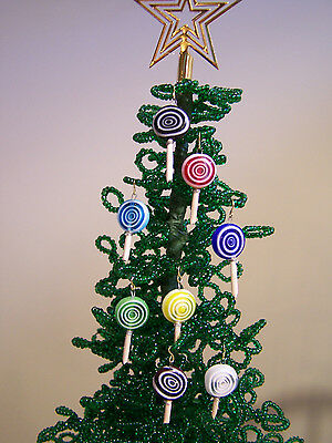 For Westrim Mini Tree 8 Piece Lolly Pop Tree Ornaments Handcrafted