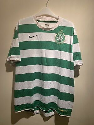 Celtic 2007/08 Vintage Football Shirt Size Large