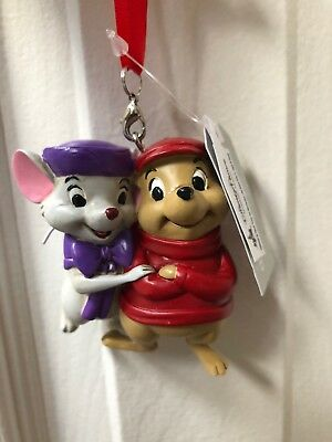 Disney Parks The Rescuers Bernard & Bianca Mice Ornament Christmas NEW