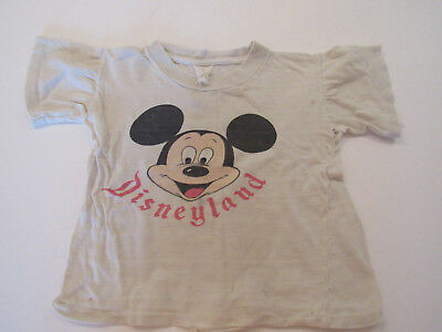 Disneyland Mickey Mouse Face Original T-Shirt 1960s Vintage
