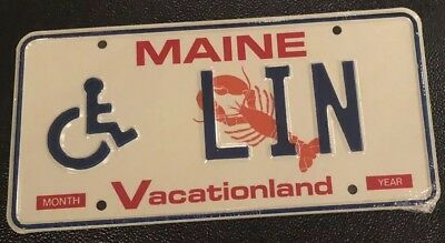Maine License Plate LIN handicapped